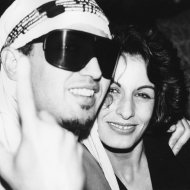 Johnny Dynell and Alba Clemente at the opening of Nell's, photo by Andy Warhol, 1986