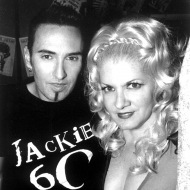 Johnny Dynell and Chi Chi Valenti photographed by Paul Brissman at the closing of Jackie 60, 1999