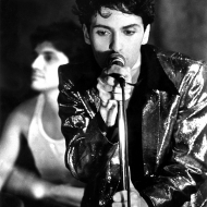 "Johnny Dynell performing ""Jam Hot"" at Danceteria, photo by Chris Savas, 1983"